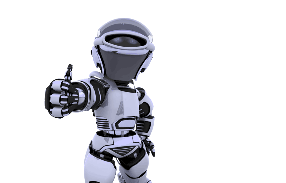 robot with thumbs up
